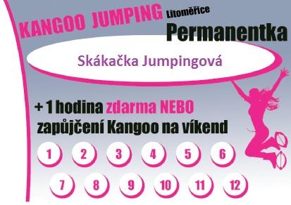 Permanentka - 12 vstupů Kangoo Jumping