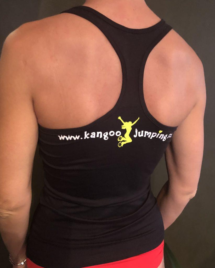 Funkční tílko KANGOO JUMPING - černé žlutá skákačka