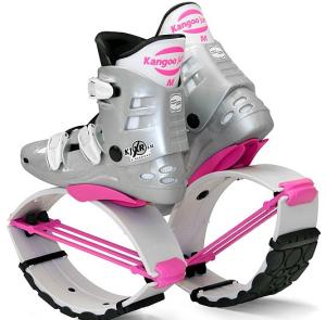 kangoo skákací boty bílo-růžové