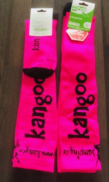 KANGOO kompresní podkolenky NEW růžovo-černé