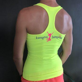 Neonové kangoo jumping tílko - žluté