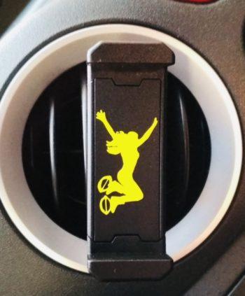 černý držák - žlutá skákačka